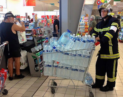 Fireman Buys Bottled Water