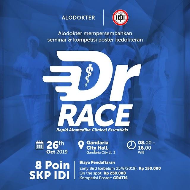 "The 2nd annual Alomedika Conference: ""DR RACE -- Rapid Alomedika Clinical Essentials"" Sabtu, 26 Oktober 2019 (08.00 - 16.00 WIB)"