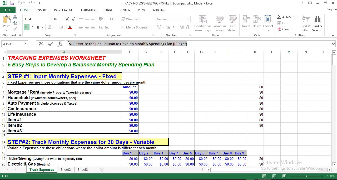 Best excel template for tracking expenses