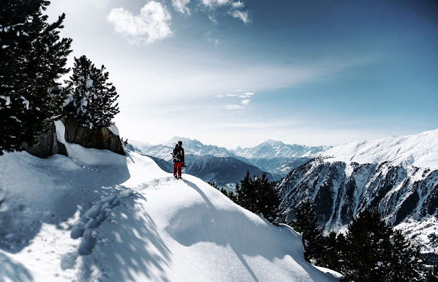cidade neve esqui europa