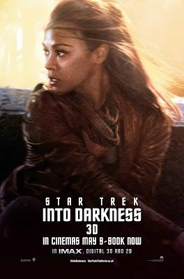 Star Trek Into Darkness Uhura played by Zoe Saldana Character Poster