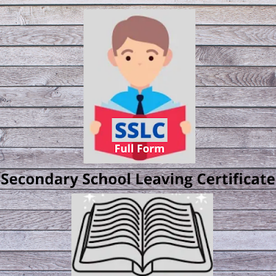 SSLC Full Form In Education
