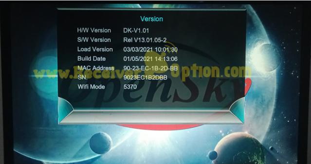 OPENSKY MINI HD124B PLUS 1507G 1G 8M NEW SOFTWARE 5 JANUARY 2021