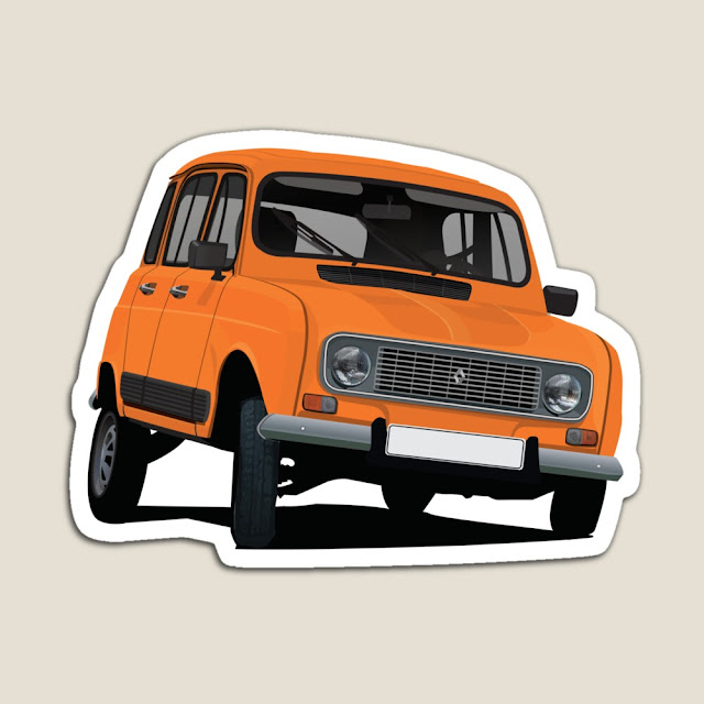 Renault 4 stickers and fridge magnets