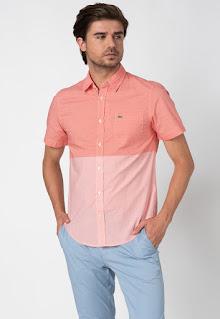 Lacoste - Мъжка памучна Риза с джоб на гърдите