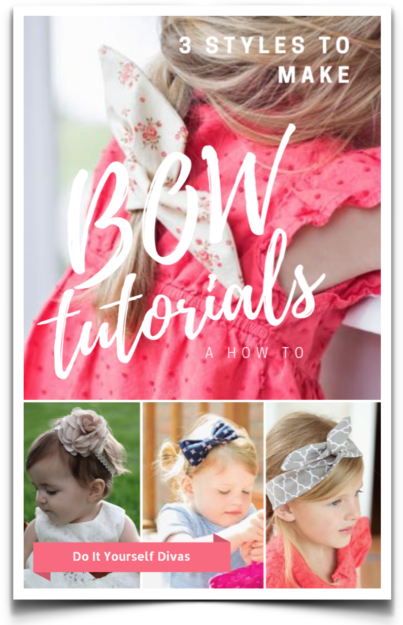 Do it yourself divas diy hair bow tutorials all bows are easy to make and we love that they are customizable so you can get exactly what you want baditri Image collections