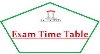 RK University Exam Date Sheet 2021