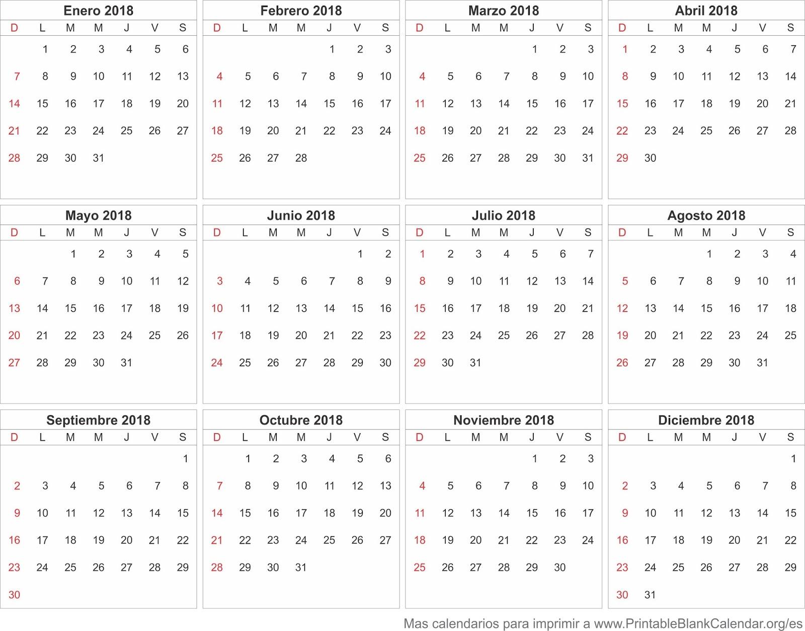 Calendario 2o18.Download Wallpapers Free Calendario 2018