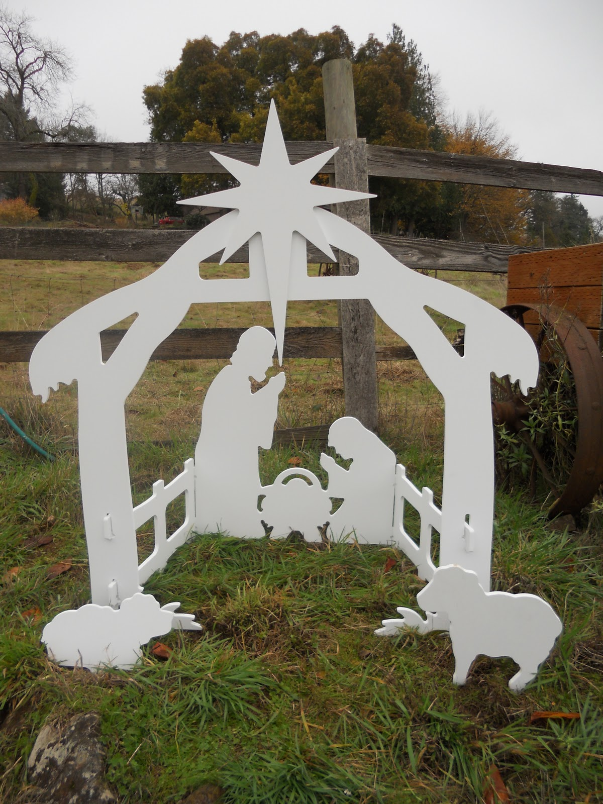 Living For Outdoor Nativity Set