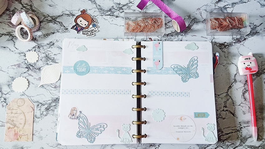 "June 2020: Purely Pastel Weekly Planner Spreads. ft. ""The Universe is in Me"" Belle De Jour Power Planner - Heavenly Lovely - Article/Blog Post by Kathryn Grace of The Graceful Mist website (www.TheGracefulMist.com)"