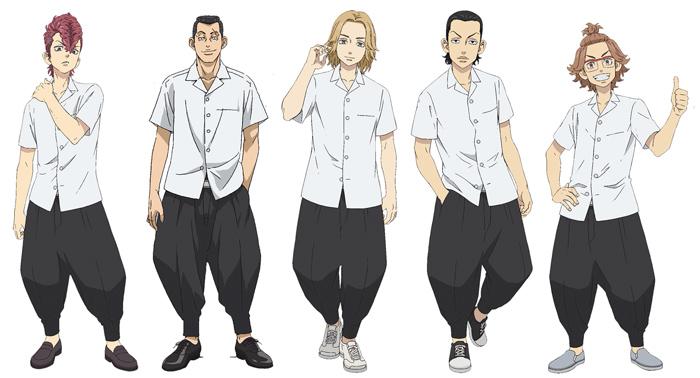 Tokyo Revengers anime - personajes