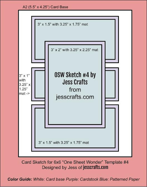 Card Sketch for One Sheet Wonder #3 by Jess Crafts