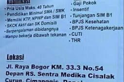 Info Loker  Driver Terbaru Bulan Ini, Walk in Interview