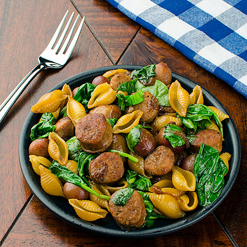 Italian Sausage and Grapes with Pasta
