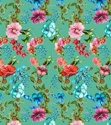 flower textile repeat 7058