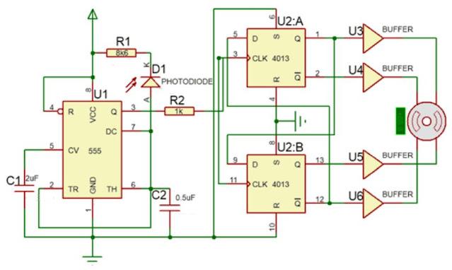 Implementasi Sensor Photodioda dengan Motor Stepper