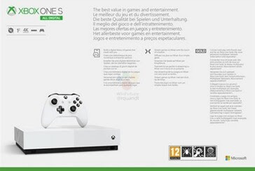 Disc-free Xbox One S All Digital box