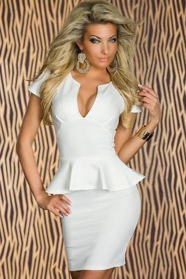 vestido tubinho branco