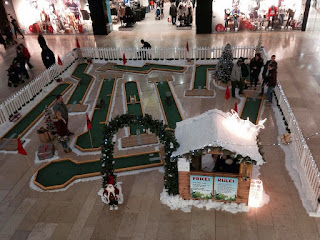 Christmas minigolf course in Peterborough. Photo by Mini Golf and Games, 2013