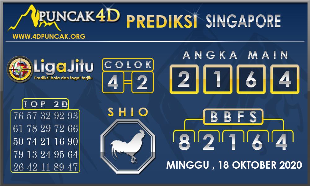 PREDIKSI TOGEL SINGAPORE PUNCAK4D 18 OKTOBER 2020
