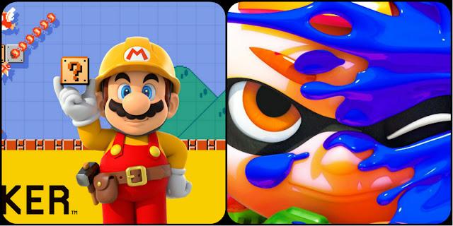 Atualizações de Super Mario Maker e Splatoon