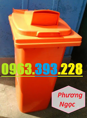 Thùng rác nhựa 120 Lít nắp hở, thùng rác công cộng, thùng rác nắp hở nhựa HDPE TRNH120L5