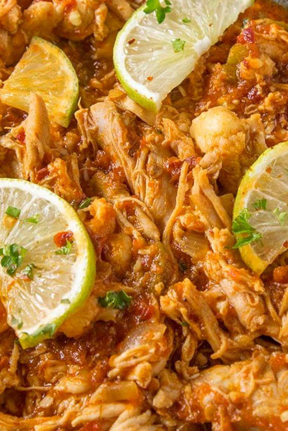 Chicken Tinga (Spicy Chipotle Shredded Chicken)