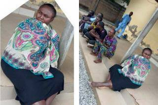 Middle aged woman arrested by Kwara state police command for arranging her own kidnap.