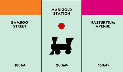 Figure: You rolled a three, landing you on your next railway station. Choo choo! To buy Marigold Station, answer the following: Which of these is not the name of a well known railway journey?