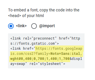 install google fonts on blogger