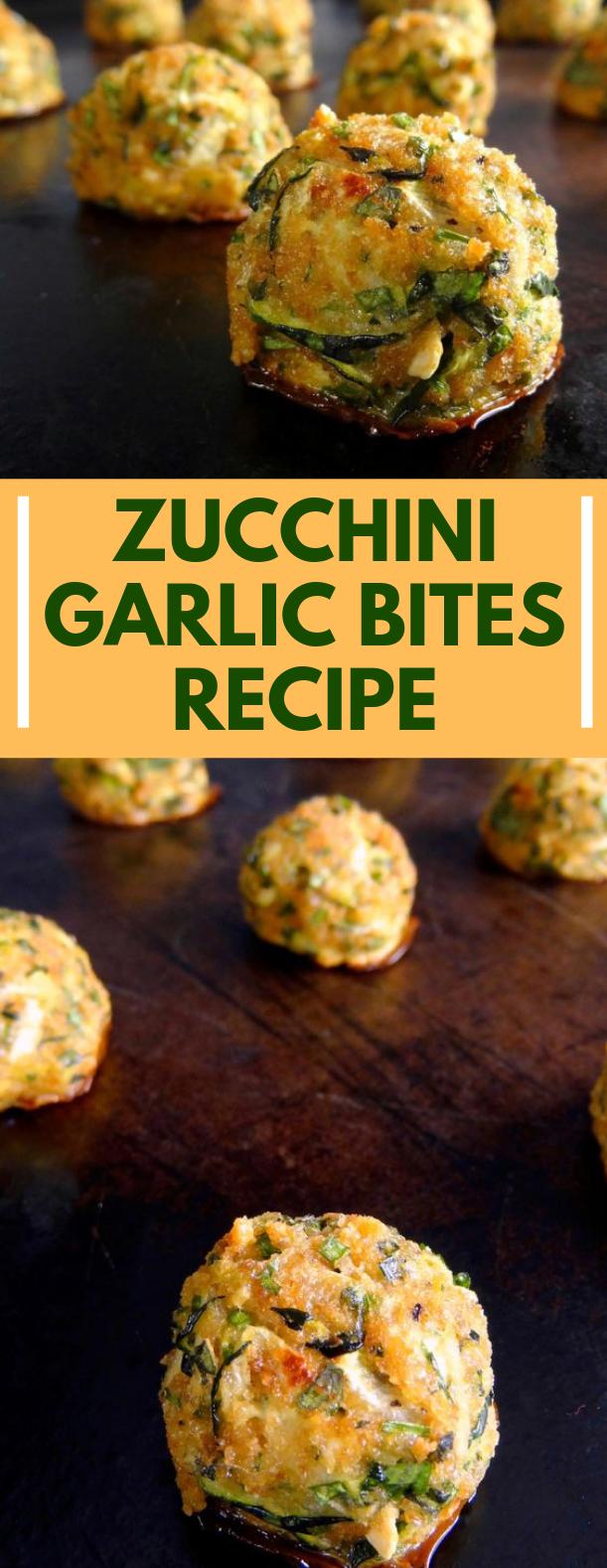 Zucchini Garlic Bites #vegetarian #parmesan