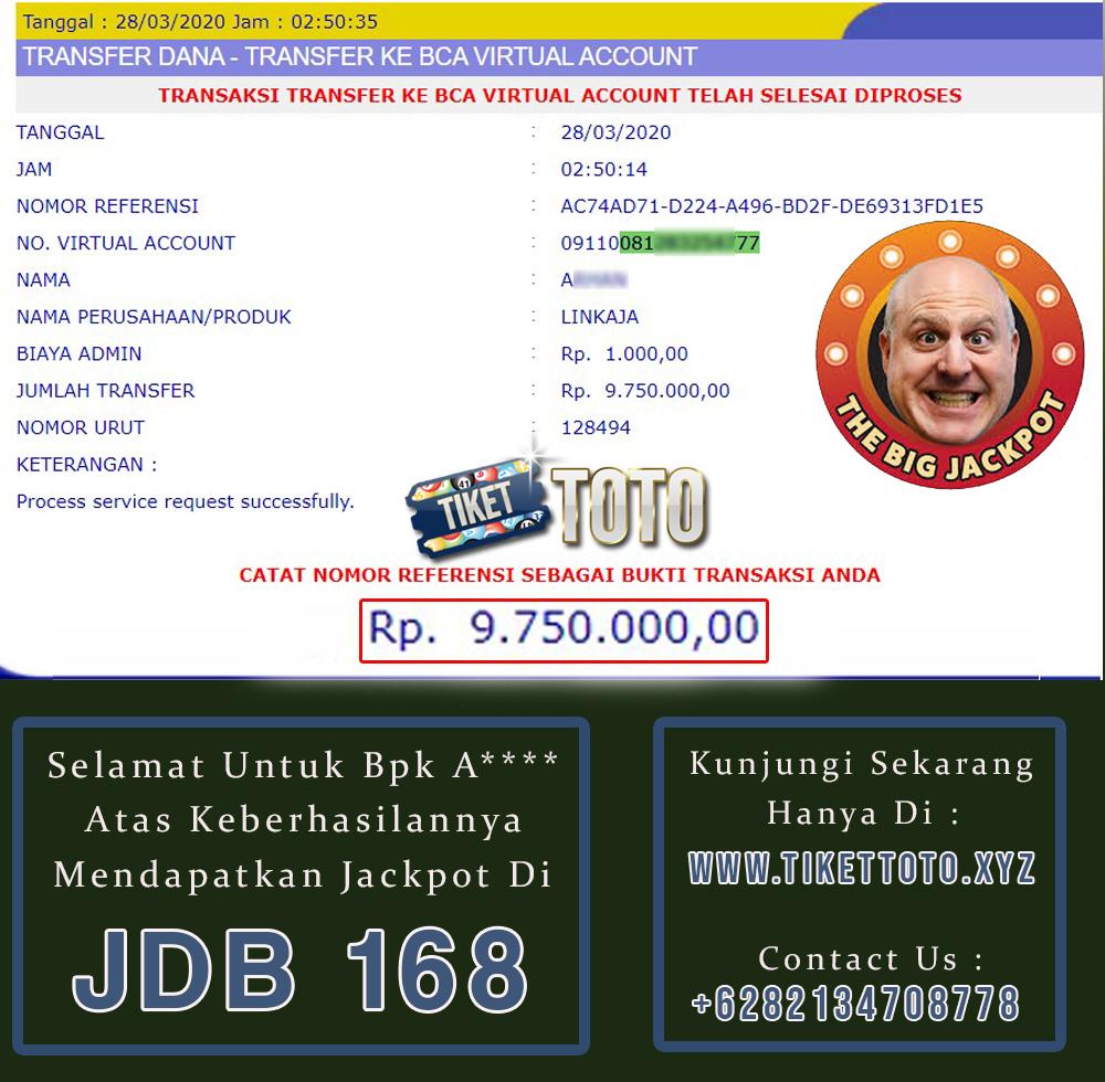 Big Jackpot Slot Game Provider JDB 168 28 Maret 2020