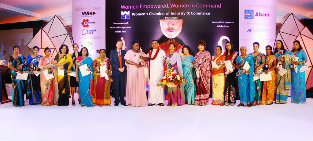 The WCIC award winners with chief guest, Minister for Economic Development, Hon. Basil Rajapaksa and guest of honour, Minister of External Affairs, Prof. G.L. Pieris.