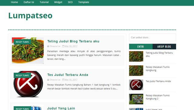 LumpatSEO Responsive Blogger Templates