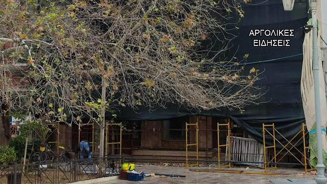 """Ξεκίνησαν οι εργασίες αποκατάστασης του κτηρίου """"Βίγκα"""" στο Ναύπλιο"""