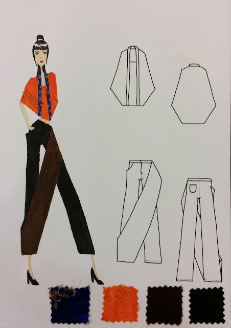 Third design entry for Fashion Design Competition
