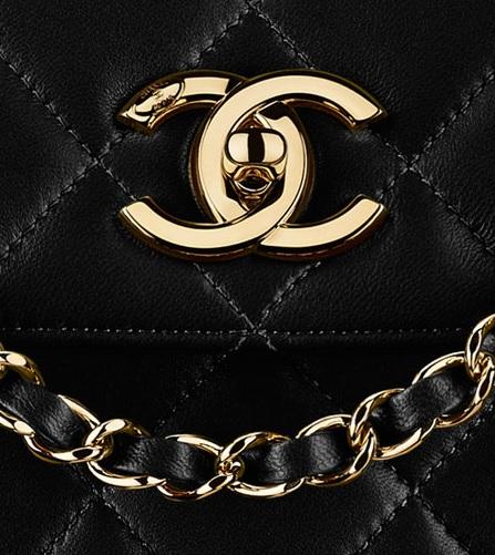 łańcuszek od torebki pikowanej Chanel