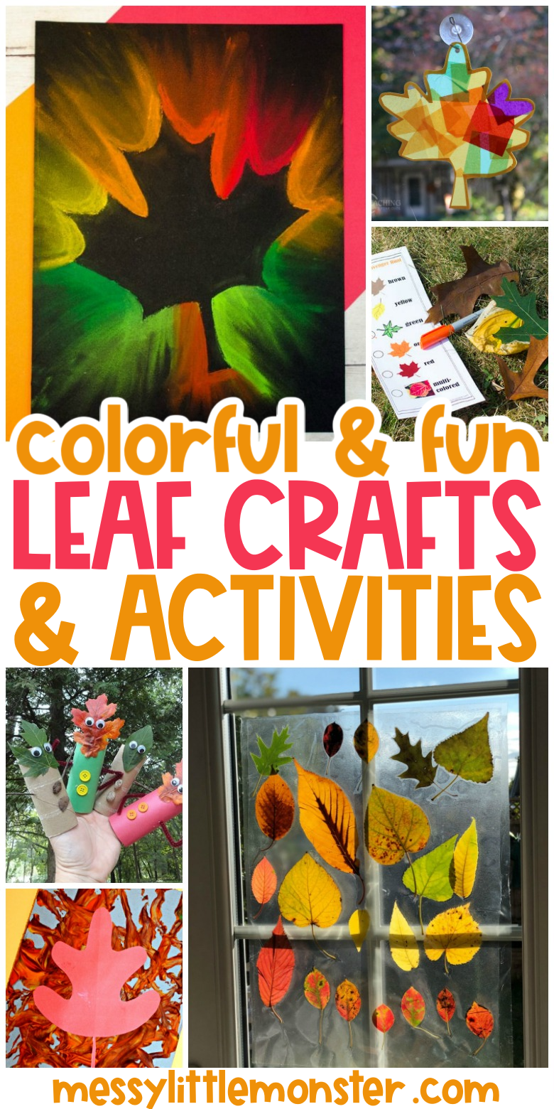 leaf crafts and activities for kids