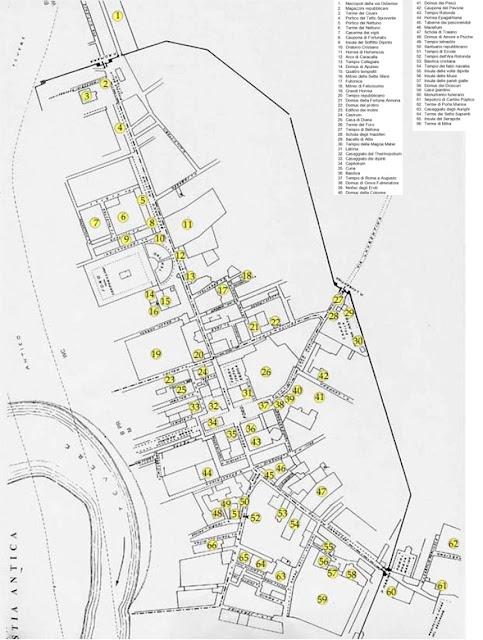 Mapa de Ostia Antica