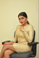 Actress Pooja Roshan Stills in Golden Short Dress at Box Movie Audio Launch  0036.JPG