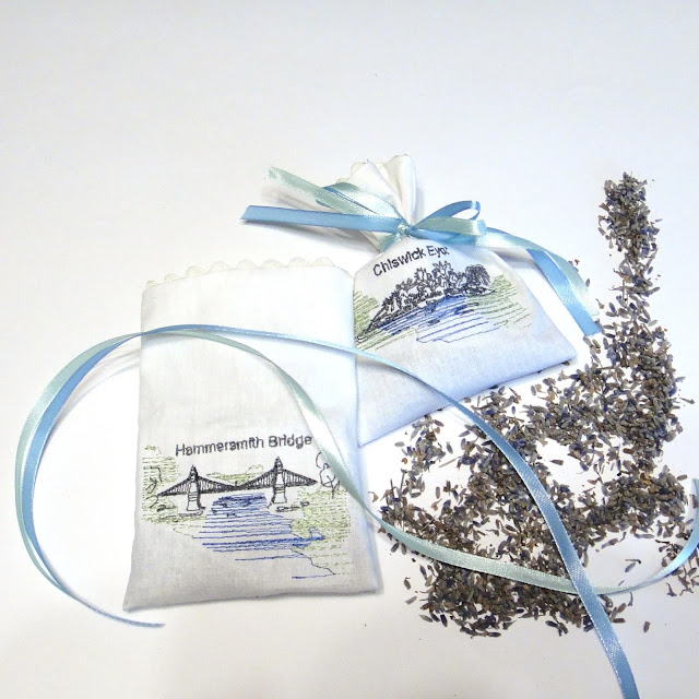 Свадебные саше с лавандой: натуральный хлопок, атласная лента, бутоны лаванды. Доставка почтой или курьером
