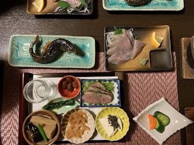 鷹の湯温泉の夕食その2