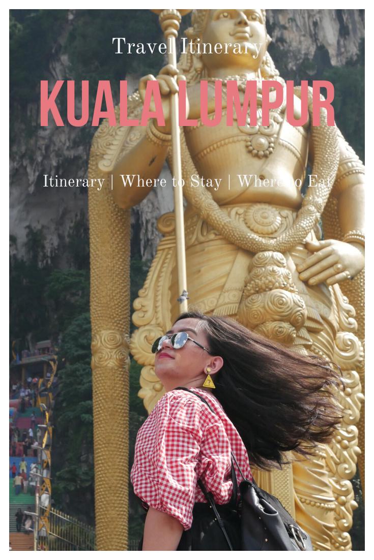 kuala lumpur itinerary and budget