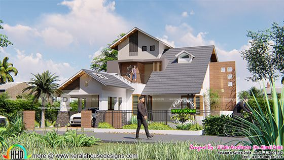 Staid house rendering front view