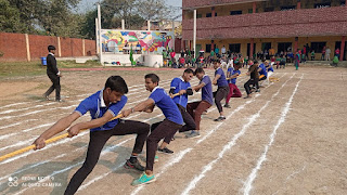 रस्साकशी प्रतियोगिता गर्ल्स में ग्रीन हाउस व बॉय में ब्लू हाउस की टीम ने मारी बाजी | #NayaSaberaNetwork