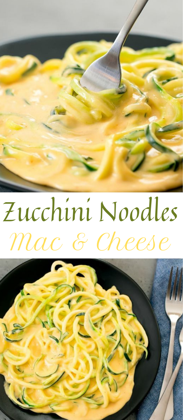ZUCCHINI NOODLES MAC & CHEESE #noodle #healthy
