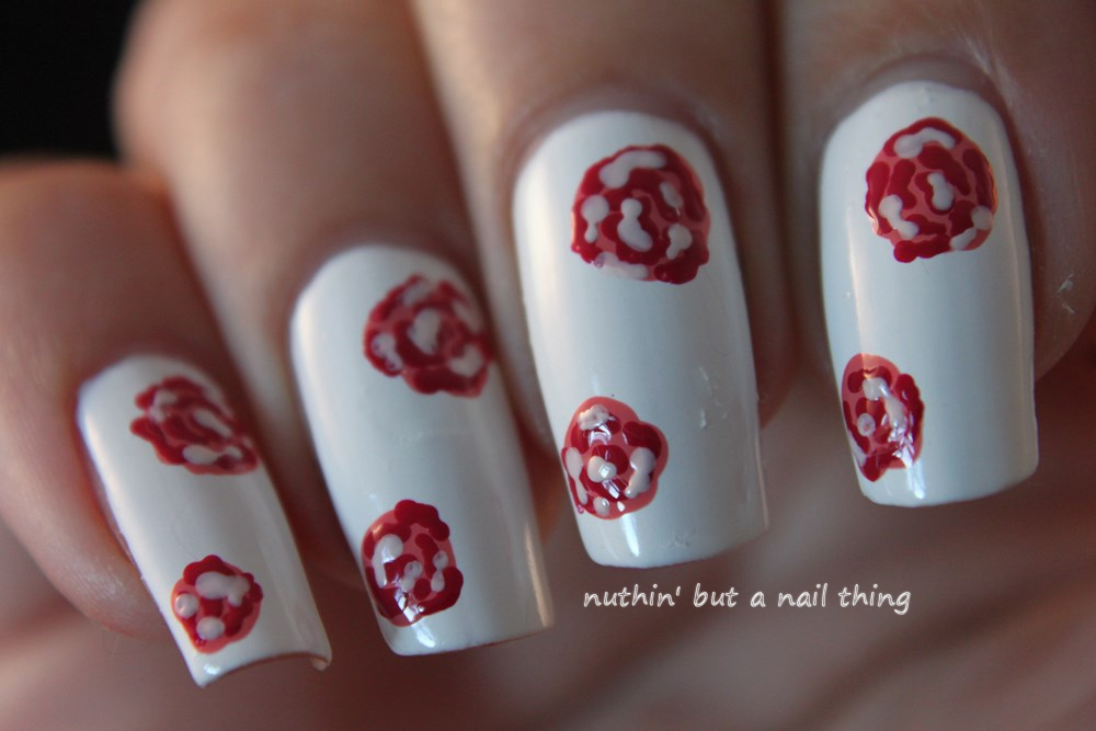 nuthin' but a nail thing: Vintage Flower Nail Art tutorial ...