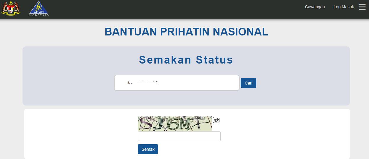 Cara Mohon BPN Jika Bukan Penerima BSH & Pembayar Cukai LHDN