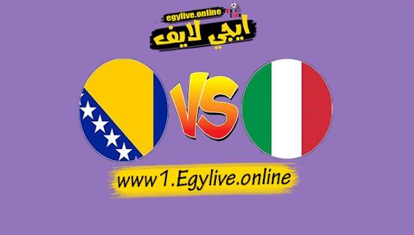 نتيجة مباراة ايطاليا والبوسنة والهرسك اليوم بتاريخ 04-09-2020 في دوري الأمم الأوروبية