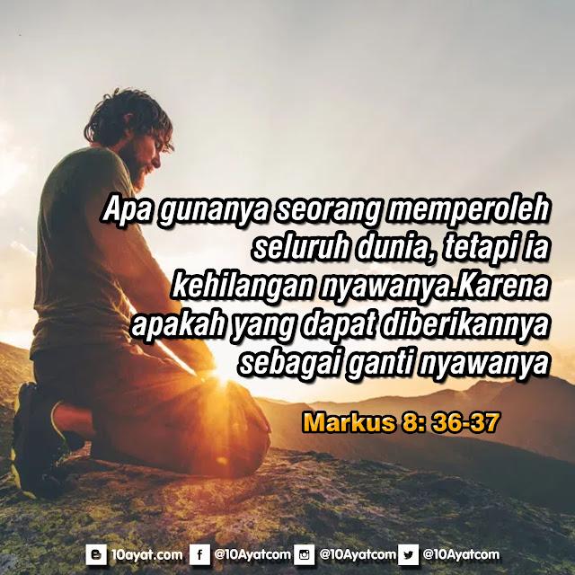 Markus 8: 36-37
